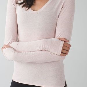 Lululemon Heathered Mink Berry Long Sleeve Tee